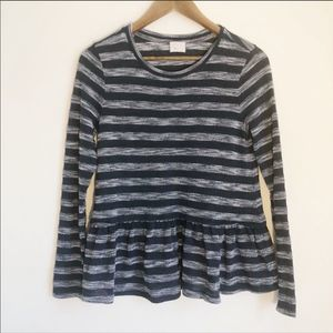 Postmark By Anthropologie Blue Striped Shirt